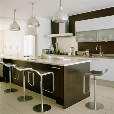 Modern Kitchen Pendant Lighting Ideas Sleek Modern Kitchen Kitchen Ideas Pendant Lights Housetohome Co Uk