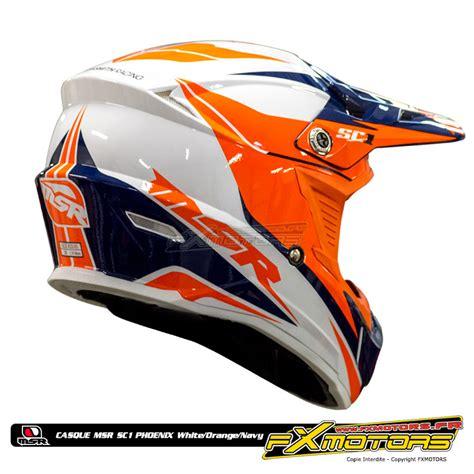 Vos Mx Marbela Navy casque cross msr white orange navy fx motors
