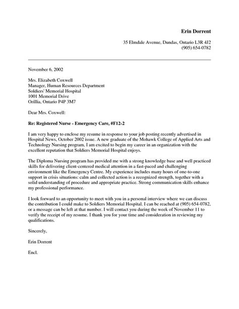 cover letter exles for nurses new grad nursing cover letter search nursing