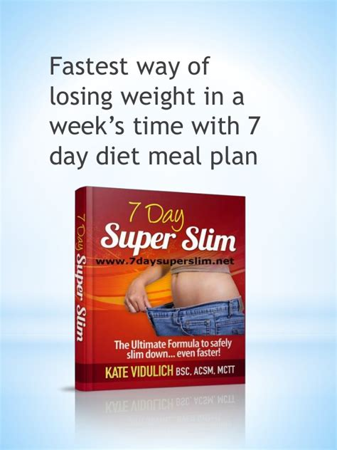 7day Slim practical 7 day diet meal plan 7 day slim review