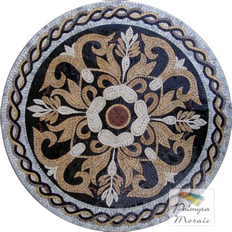 md002 marble mosaic medallion marble mosaic medallions pinterest