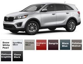 Kia Sorento Color Options 2017 Kia Sorento Trims And Color Options