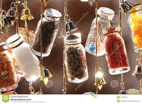 decorative on a string decorative bottles on a string royalty free stock photo