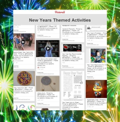 new year themed activities new years board