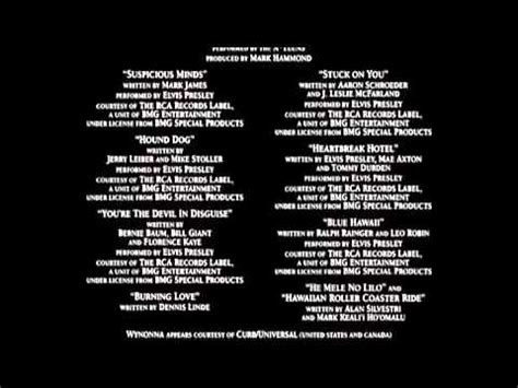 lilo & stitch end credits re do youtube