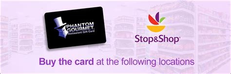 Phantom Gourmet Gift Card Restaurants - stop and shop locations the phantom gourmet restaurant gift card