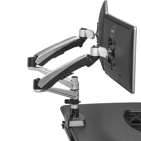 dual monitor arms for desk dual monitor arm varidesk 174