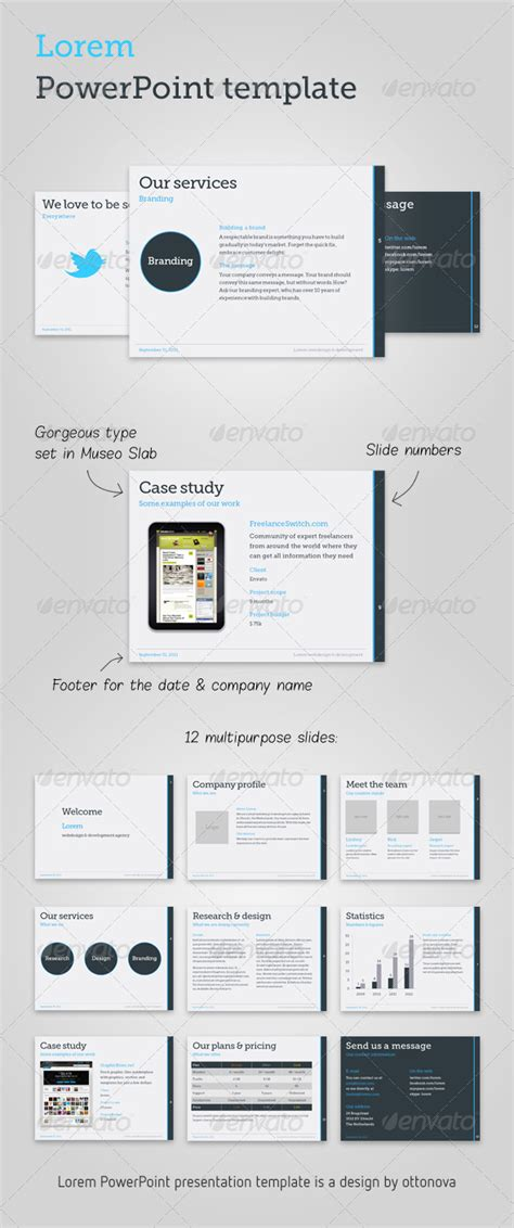 presentation template graphicriver lorem powerpoint