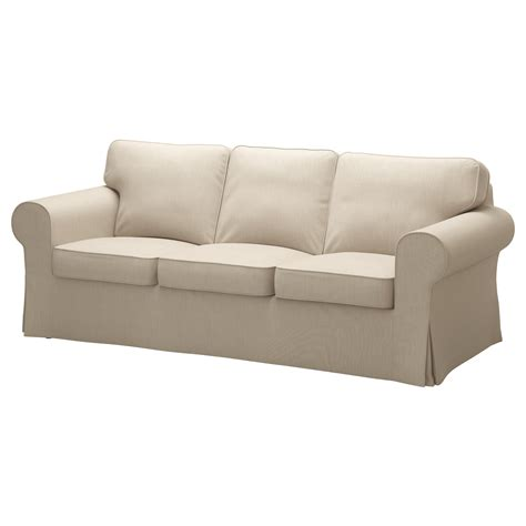 Ektorp Cover Three Seat Sofa Nordvalla Dark Beige Ikea Covers For Ikea Ektorp Sofa