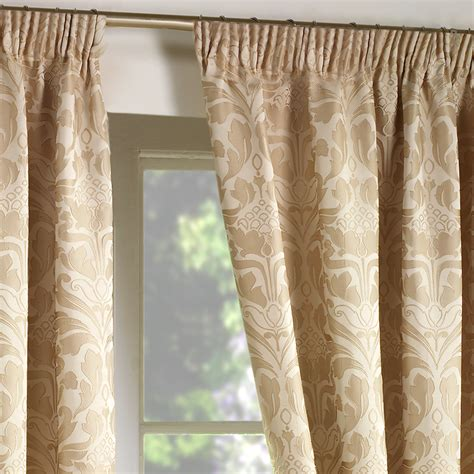 natural damask curtains luxury jacquard curtains heavy weight fully lined pencil