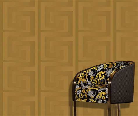 Wallpaper Sticker Premium 5 95 Prb Versace Wallpaper Border Gold Black Luxury Satin Modern