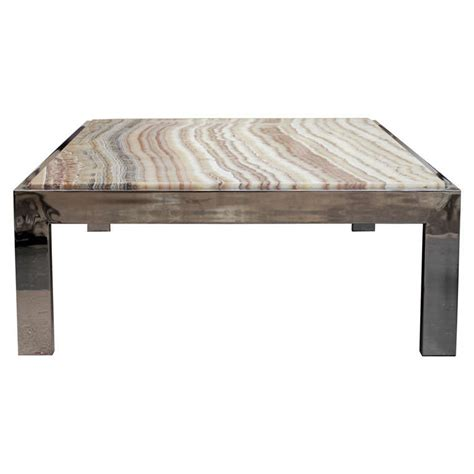 pace collection onyx top coffee table at 1stdibs