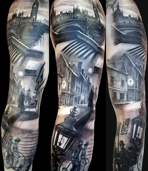 london themed tattoo 90 building tattoos for men architecture ink design ideas