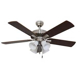 52 inch ceiling fan with light cordova 52 inch 4 light brushed nickel ceiling fan bed
