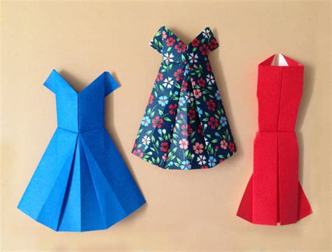 Origami Dresses - forty weeks crafts diy origami dresses
