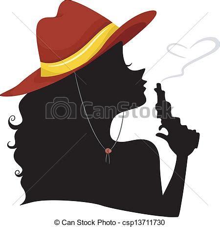 imagenes vaqueras en sombra vectores de vaquera punta soplar silueta pistola