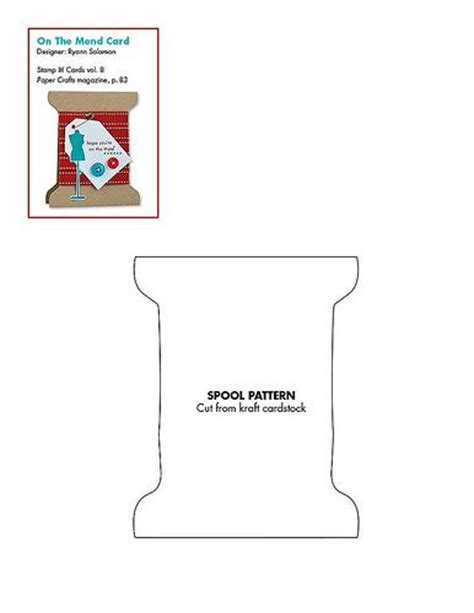 shaped card templates free spool shaped card pattern use this for needle and