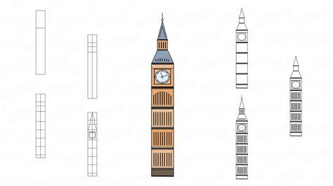 Big Ben Drawing Step By Step