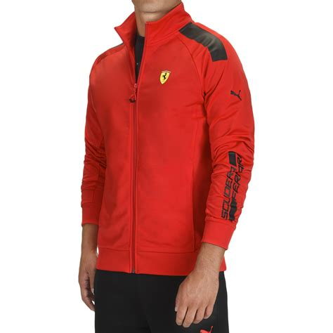 ferrari clothing men men s puma scuderia ferrari track jacket by ferrari