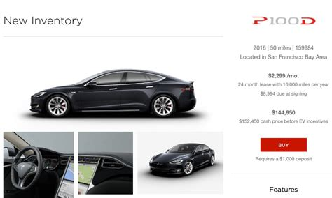 How Much Does A Tesla Cost To Buy Tesla Offering Model S P100d Inventory Cars For Immediate