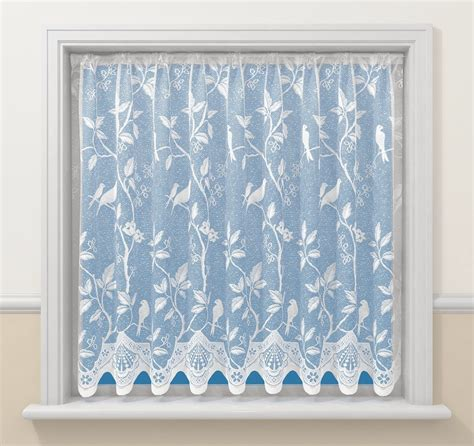 pattern net curtains enchanting white song love birds victorian lace window net