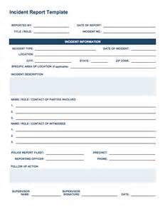 report forms template free incident report templates smartsheet