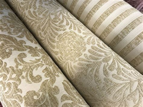 velvet chenille upholstery fabric cream light beige luxury heavyweight chenille velvet