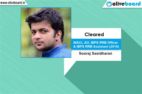Of Mba Success Stories by Success Story Of Sooraj Sasidharan Ibps Rrb Officer