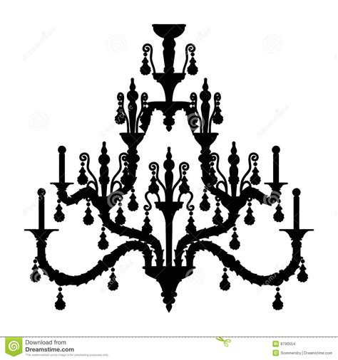 Gold Leaf Chandelier Silhouette Of Luxury Chandelier Stock Images Image 8790554