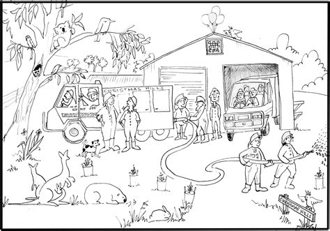 Fire Department Coloring Coloring Pages Department Coloring Pages