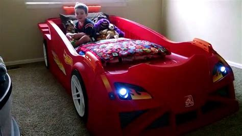 bed race car kid wheels toddler to race car bed