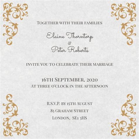 60 contoh desain undangan pernikahan unik simple elegan