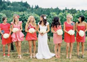 different color dress angee s eventions mismatches bridesmaid dresses