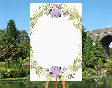 Printable Purple Welcome Wedding Sign Blank Template Diy Wedding Welcome Sign Welcome Sign Diy Wedding Signs Templates
