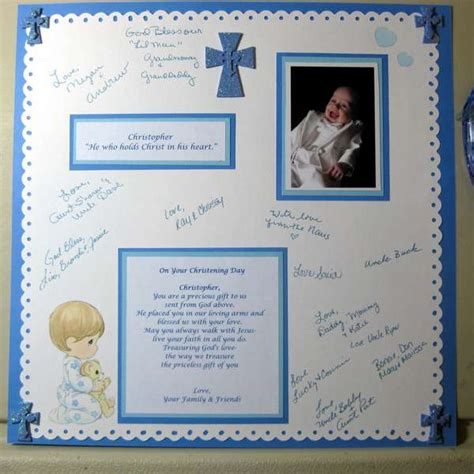 scrapbook layout ideas baby christening layout baptism guest signature page