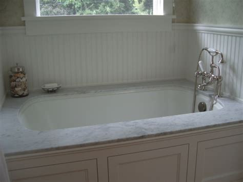 bathtub deck carrara tub deck baths custom stone fabrication