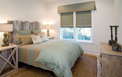 Beachy Headboards by House Bedroom With Distressed Headboard