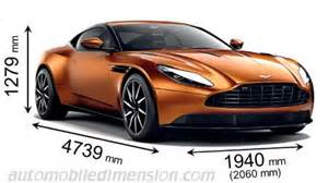 Aston Martin Vanquish Length Dimensions Of Aston Martin Cars Showing Length Width And