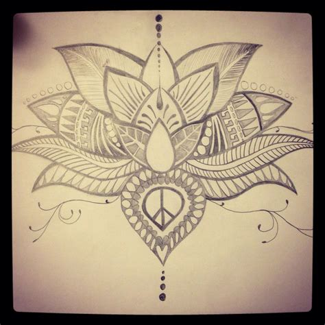 meditation tattoos lotus flower sketch diy lotus