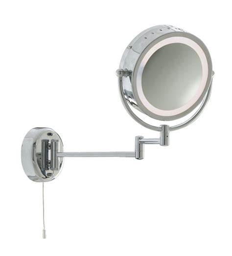 extendable bathroom mirror searchlight 11824 chrome extendable illuminated bathroom