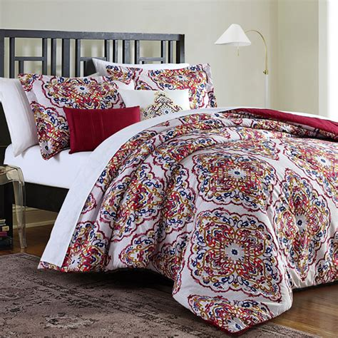 medallion comforter essential home medallion bedding set home bed bath