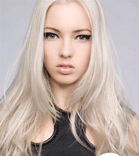 White Hairstyles by Haircut With Chunky Purple Highlight Hair