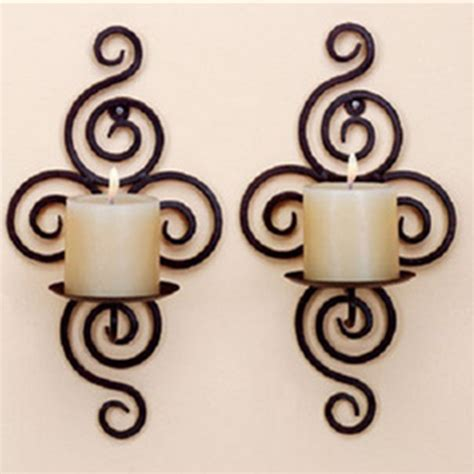 Handmade Iron - new home candlestick holders handmade iron hanging wall