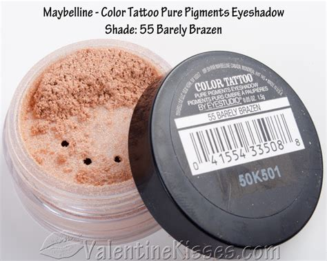 maybelline color tattoo pure pigments kisses maybelline color pigments