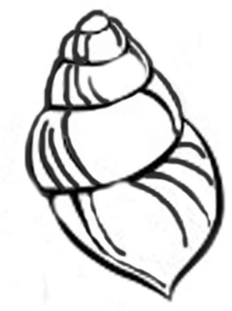 printable seashell stencils seashell template free printable clipart best