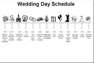 Wedding Reception Itinerary Wedding Day Schedule Jose Amp Christina S Wedding Pinterest