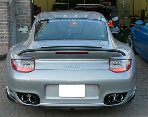 "Porsche 997 Turbo NHP 3.5"" Round Quad Exhaust Tips"