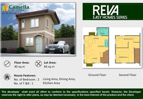camella homes design with floor plan 2bedrooms house and lot for sale camella homes dumaguete city
