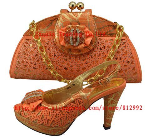 Fashion Wanita Anjani Set fashion wanita italy sepatu dan set kopling untuk pesta wanita dan pernikahan tidak ada gf8009