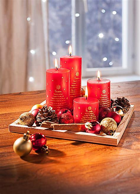 kerzen deko kerzenset weihnachten mit deko jetzt bei weltbild de bestellen